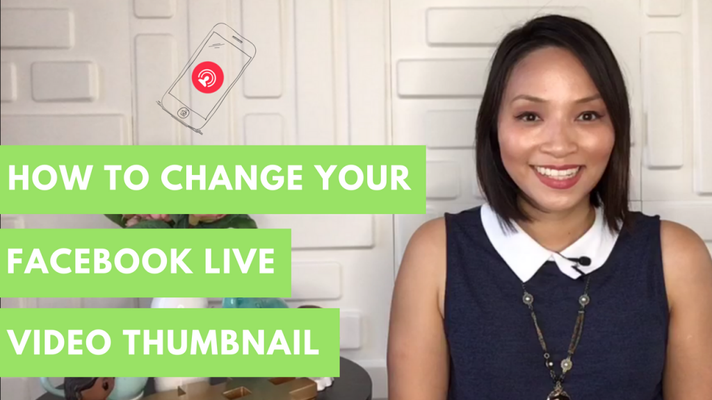 How to upload a custom thumbnail for Facebook Live
